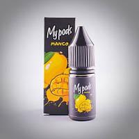 Солевая жидкость Hype My Pods Mango 10 мл для Juul и POD систем, фото 1