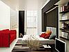Стенка для гостиной с подъемной шкаф-кроватью с ДСП фасадами