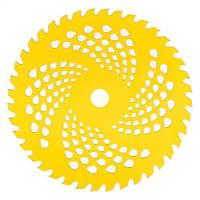 Нож к мотокосе 40 зуб.(нерж.сталь) в уп. Желтый, фото 1