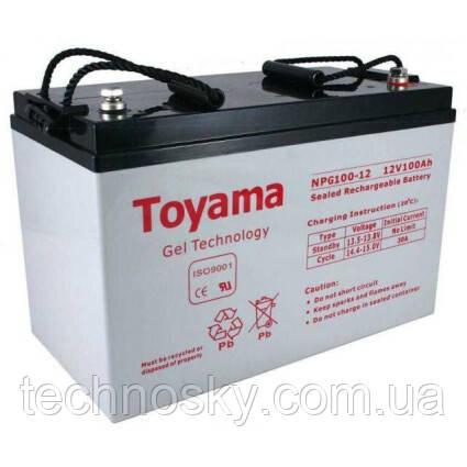 Гелевая батарея Toyama NPG 100-12 (12В , 100Ач)