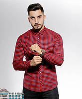Мужская кашемировая рубашка в красную клетку