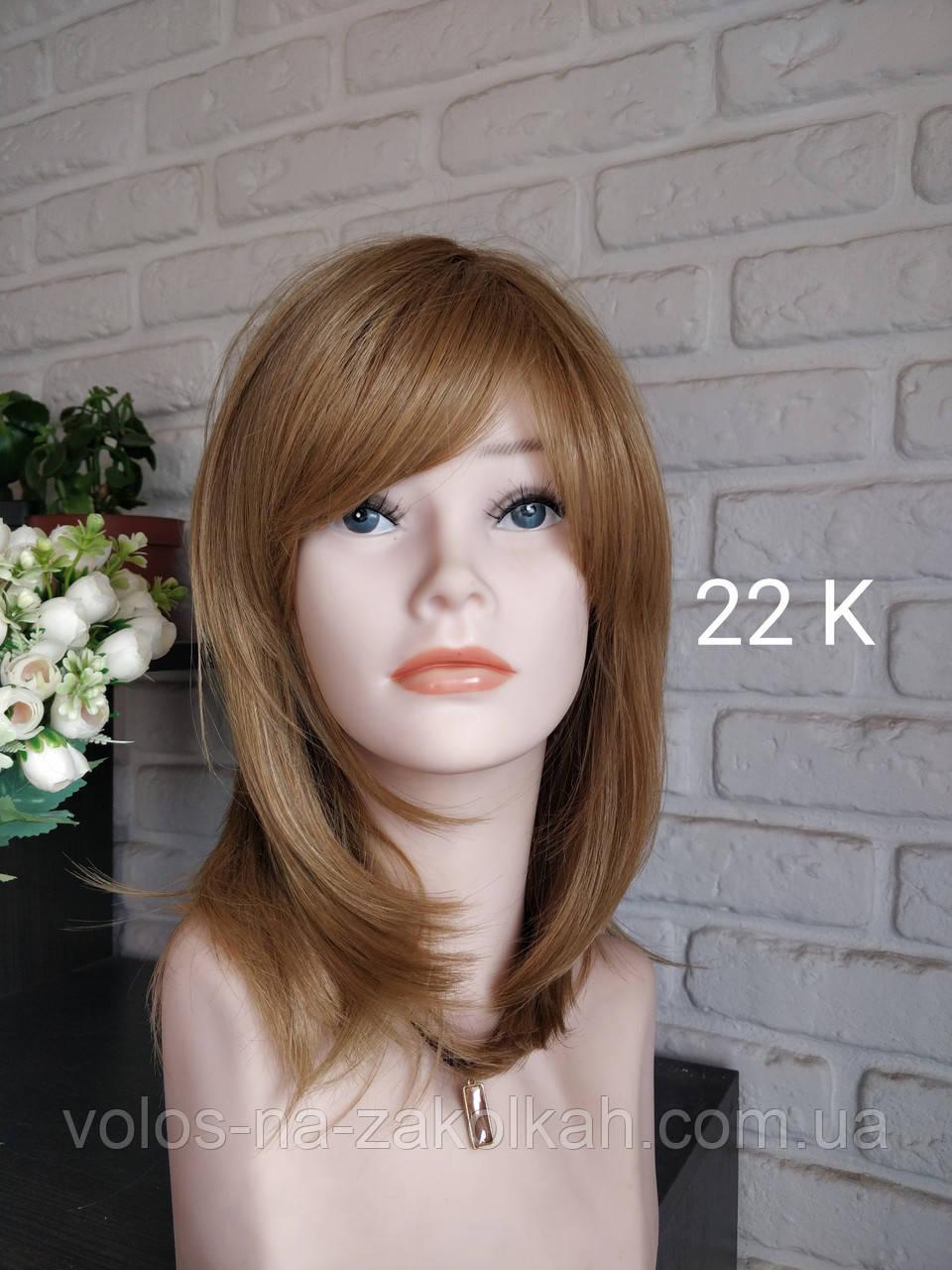 Парик короткая стрижка золотистый блонд  Корея