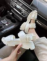 Стильные босоножки белые Кристин Диор для девушек. Женские босоножки Christian Dior Sandals White.