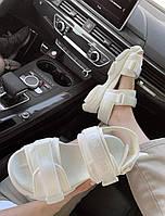 Женские босоножки Christian Dior Sandals White. Стильные босоножки белые Кристин Диор для девушек. 37