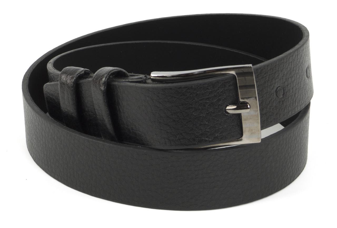 Детский прочный кожаный ремень 3 см (73645) черный