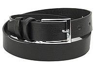 Детский прочный кожаный ремень 3 см (73646) черный