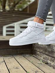Жіночі кросівки Nike Air Force (позов.хутро) (білі)