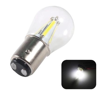 Led лед лампа 1157 Bay15D P21/5 Вт светодиодные автомобильные тормозные двухконтактные CAN BUS БЕЛЫЙ 4 нити