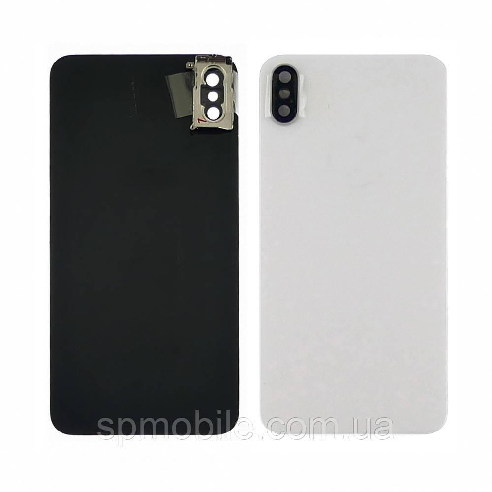 Задняя крышка iPhone XS Max Space Gray белое со стеклом камеры HC