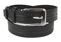 Детский прочный кожаный ремень 3 см (73651) черный