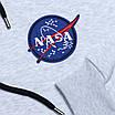 Худи осень-зима мужские бел мел NASA с патчем Т-2 WTGRI S(Р) 20-586-203, фото 3