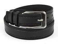 Детский прочный кожаный ремень 3 см (73656) черный