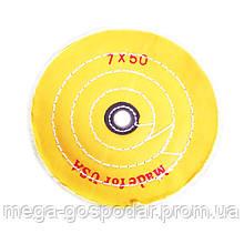 """Круг полировальный муслиновый желтый d-170мм 7""""x50 слоёв"""