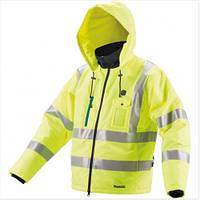 Аккумуляторная куртка со светоотражателями и подогревом Makita (DCJ206ZXL) (без АКБ и ЗУ)