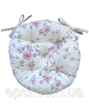 Подушка на стул круглая  D 40 Прованс Bella Розы