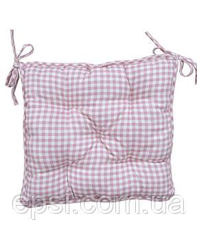 Подушка на стул 40х40 Прованс Bella Розовая клетка