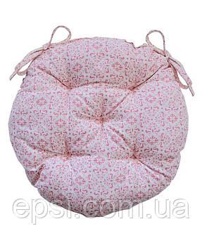 Подушка на стул круглая D 40 Прованс Bella Розовый витраж