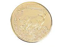 Монета Знак зодиака Телец Золотой