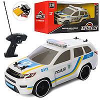 2106 Машина АвтоСвіт, р/у, аккум, полиция, 1:16, 27см,небьющ.корпус,св, в кор, 38-18
