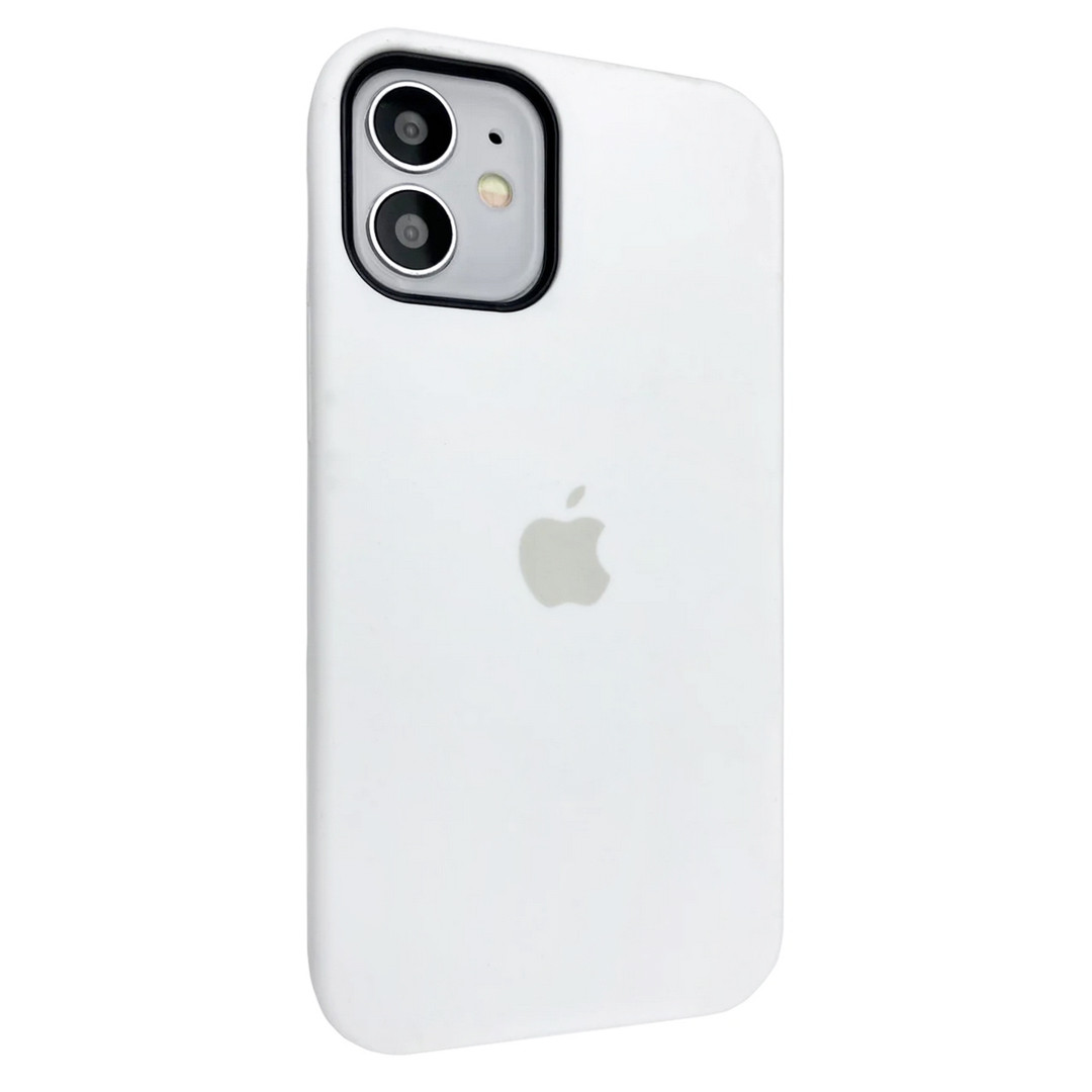 Силиконовый чехол Silicone case full cover для Apple iPhone 12 Mini | White | DK
