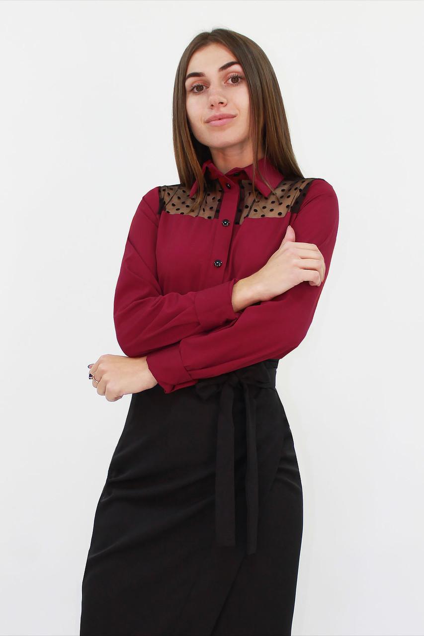 Стильная женская блузка Brenda, марсала