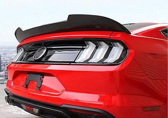Карбоновый спойлер Ford Mustang (15-20) карбон стиль (V2)