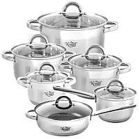 Набор кастрюль Krauff посуда из нержавеющей стали 12 пр. 26-242-003