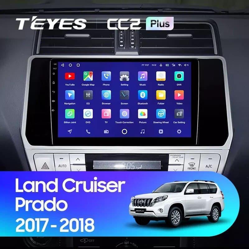 Штатная магнитола TEYES CC2 Plus  Toyota Land Cruiser Prado 150 2017 - 2018 Android 10