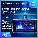 Штатная магнитола TEYES CC2 Plus  Toyota Land Cruiser Prado 150 2017 - 2018 Android 10, фото 2