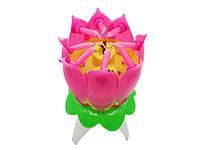 Свеча для торта в виде цветка Лотоса музыкальная
