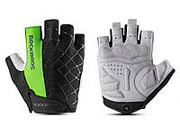 Велосипедные перчатки RockBros без пальцев L Зеленый