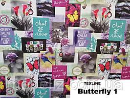 Ткань мебельная обивочная Бабочки 1