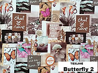Ткань мебельная обивочная Бабочки 2