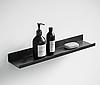 Полка для ванной черная в стиле Лофт