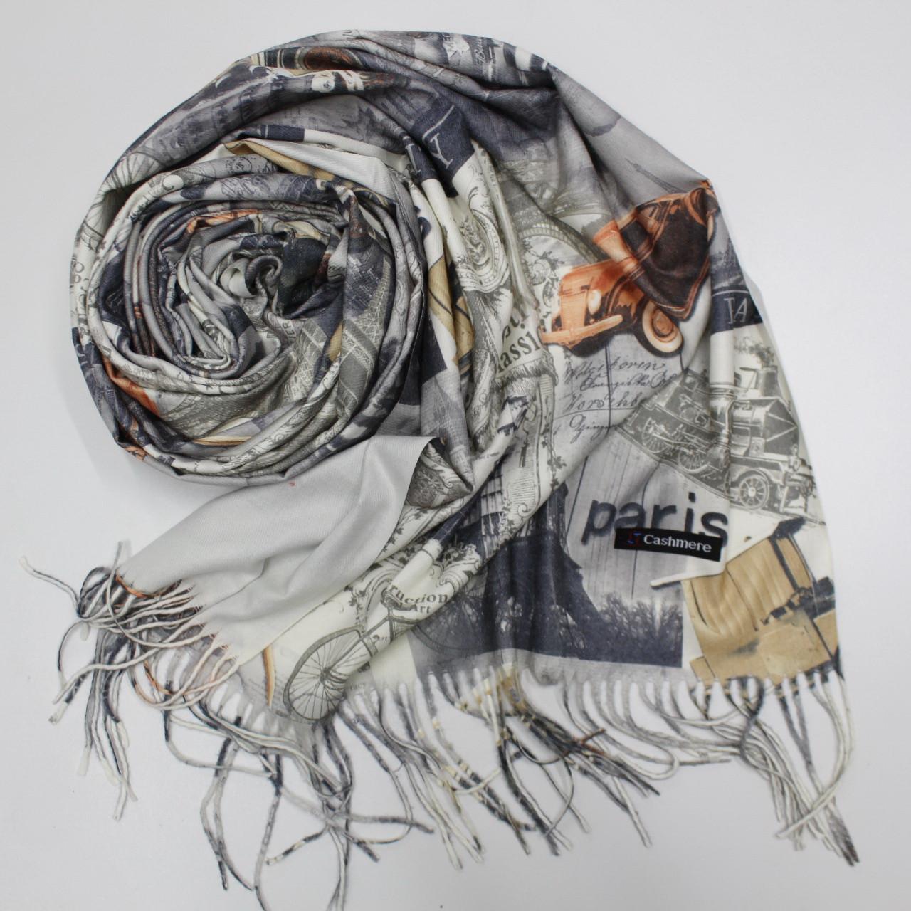 Кашемировый теплый шарф палантин  Cashmere 143003