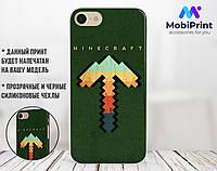 Силиконовый чехол Майнкрафт (Minecraft) для Apple Iphone 7 plus_8 plus