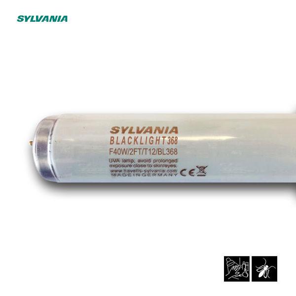 Лампа ультрафиолетовая в ловушки для насекомых Sylvania F40W/2FT/T12/BL368 600mm G13