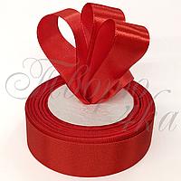 Лента атласная красная №026 25 мм