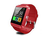 Спортивные Bluetooth часы Smartwatch U8 Красный