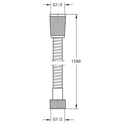 Душовий шланг GF Italy (CRM)-HS-02, фото 2