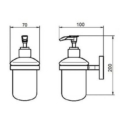 Дозатор для рідкого мила GF (BLB)S-2627, фото 2