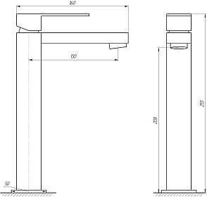Змішувач для раковини ELALLAR STYL 2C-101A (Високий), фото 2