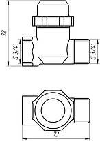 """Фільтр грубої очистки Solomon 8015 нікель НВ 3/4"""" з відстійником, фото 3"""