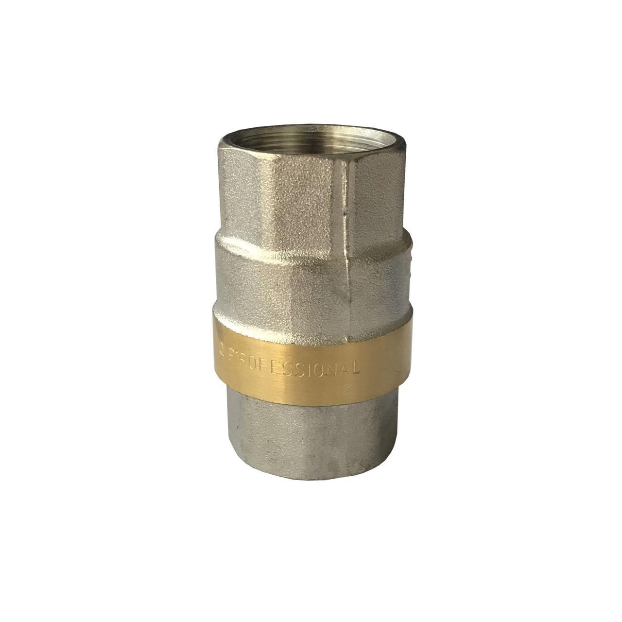 """Клапан зворотного ходу води Professionall QP100 латунний шток 3/4"""""""