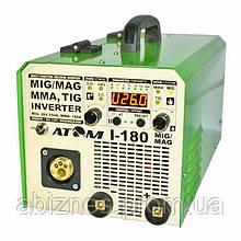 Полуавтомат инверторный АТОМ I-180 MIG/MAG с горелкой и кабелем массы (вариант F)