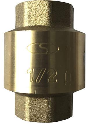 """Клапан зворотного ходу води Solomon C6022 латунний шток 1"""", фото 2"""