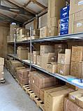 Стеллаж полочный 2000х1230х500 мм, 3 полки с ДСП крашеный под запчасти, для магазина, СТО, фото 5