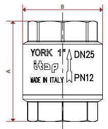 "Клапан зворотного ходу води ITAP YORK 103 3"", фото 2"