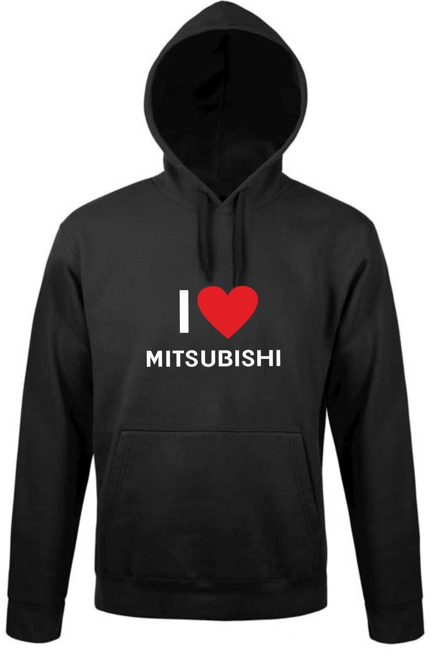 Реглан с капюшоном Love Mitsubishi01
