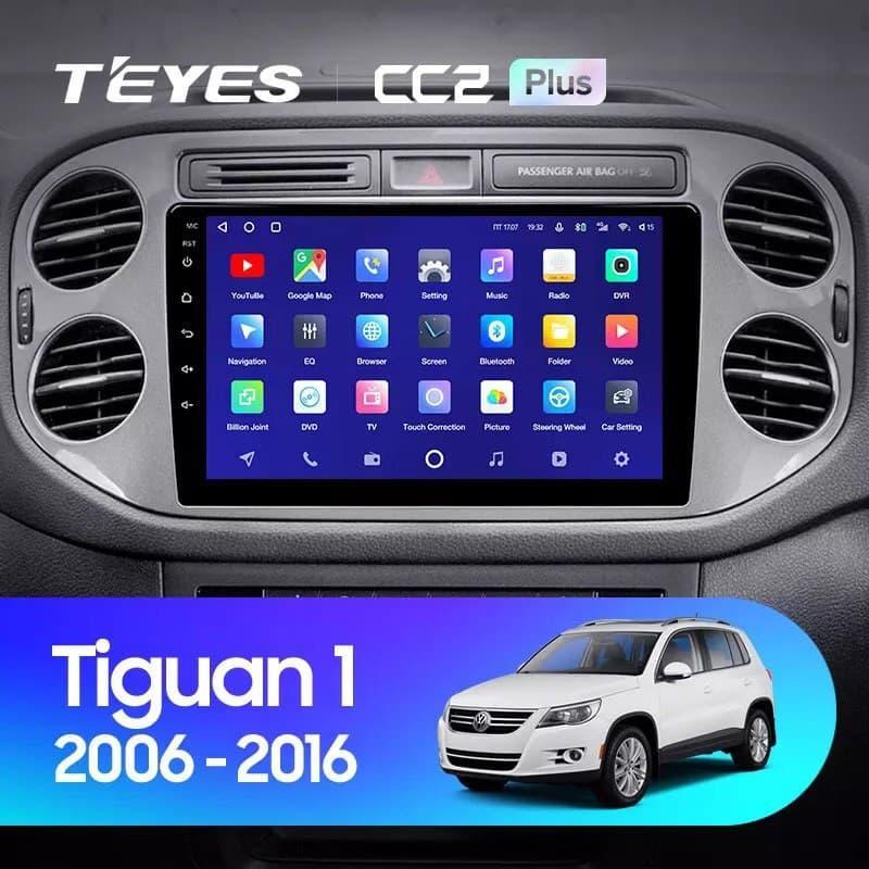 Штатная магнитола TEYES CC2 Plus Volkswagen Tiguan 1 NF 2006-2016 Android 10